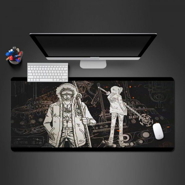 Law Black and White 250x290x2mm Official Anime Mousepads Merch