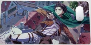 Leaping Levi Style 14 / 30x25x0.3cm Official Anime Mousepads Merch