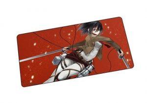 Spinning Slash Mikasa mat 5 / Size 600x300x2mm Official Anime Mousepads Merch