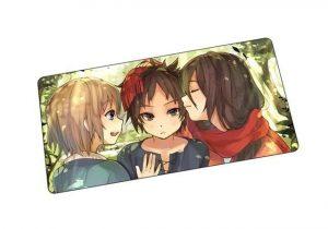 Armin x Eren x Mikasa mat 8 / Size 600x300x2mm Official Anime Mousepads Merch