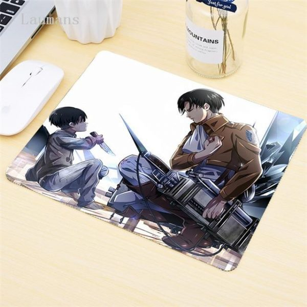 Levi and the Child BROWN / 180x220x2mm Official Anime Mousepads Merch