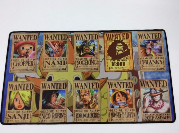 Strawhat Wanted Posters in Color 300x600X2MM Official Anime Mousepads Merch