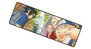 Original Naruto Team Seven mousemat 5 / Size 700x300x2mm Official Anime Mousepads Merch