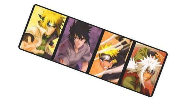 Konoha's Yondaime, Sasuke, Naruto and Ero - Sennin mousemat 8 / Size 700x300x2mm Official Anime Mousepads Merch
