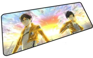 Eren x Levi Defenders of Trost mousepad 8 / Size 600x300x2mm Official Anime Mousepads Merch