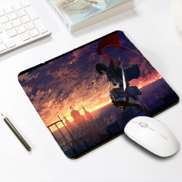 Mikasa Saves The World Default Title Official Anime Mousepads Merch