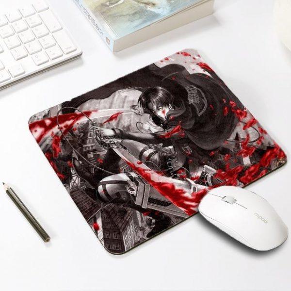 Levi Ackerman Default Title Official Anime Mousepads Merch