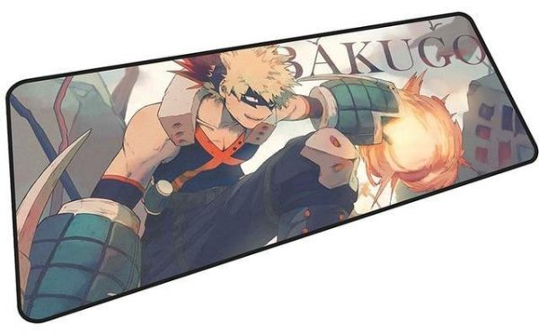 Bakugo Crouching Explosion mousepad 3 / Size 600x300x2mm Official Anime Mousepads Merch