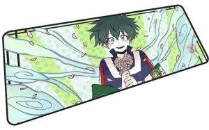 Kawaii Midoriya Getting Flowers mousepad 5 / Size 600x300x2mm Official Anime Mousepads Merch