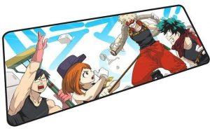 Iida, Uraraka, Bakugo, and Midoriya Cleaning mousepad 7 / Size 600x300x2mm Official Anime Mousepads Merch