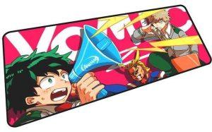 Midoriya Yelling into Megaphone mousepad 8 / Size 600x300x2mm Official Anime Mousepads Merch