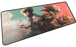 Deku and Bakugo Team Up mousepad 9 / Size 600x300x2mm Official Anime Mousepads Merch