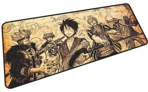 Luffy, Zoro, Law, and Kid mousepad 3 / Size 700x400x3mm Official Anime Mousepads Merch