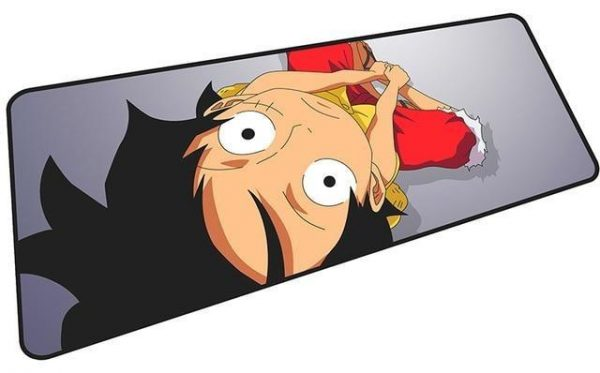 Luffy Sitting mousepad 6 / Size 600x300x2mm Official Anime Mousepads Merch