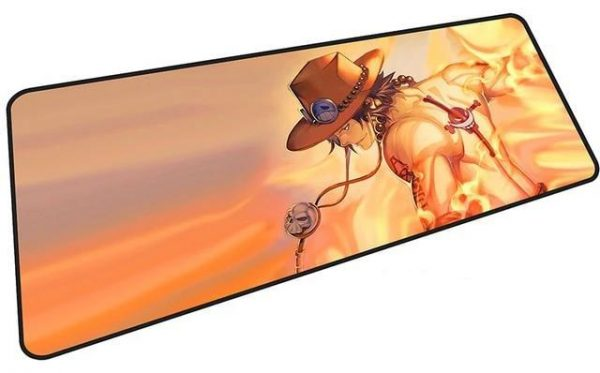Fire Fist Ace mousepad 9 / Size 600x300x2mm Official Anime Mousepads Merch