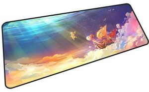 The Going Merry in The Clouds mousepad 10 / Size 600x300x2mm Official Anime Mousepads Merch