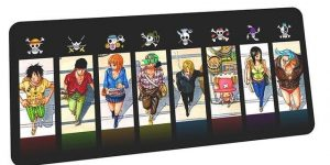Strawhat Crew and Emblems mousepad 4 / Size 600x300x2mm Official Anime Mousepads Merch