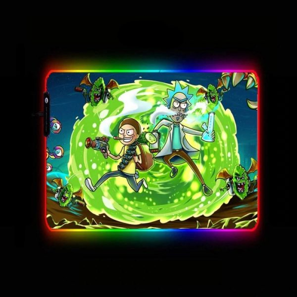 Cartoon Designs - Monster Hunt - RGB Mouse Pad 350x250x3mm Official Anime Mousepad Merch