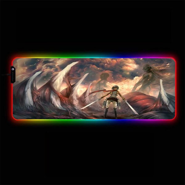 Attack on Titan - Bones - RGB Mouse Pad 350x250x3mm Official Anime Mousepad Merch
