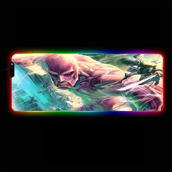 Attack on Titan - Colossal Titan - RGB Mouse Pad 350x250x3mm Official Anime Mousepad Merch