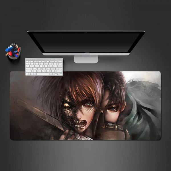 Attack on Titan - Eren, Levi - Mouse Pad 350x250x2mm Official Anime Mousepad Merch