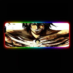 Attack on Titan - Eren Yeager - RGB Mouse Pad 350x250x3mm Official Anime Mousepad Merch