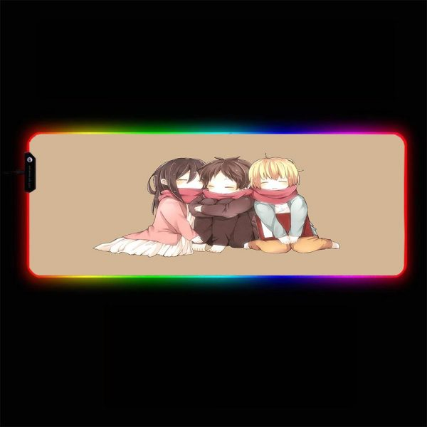 Attack on Titan - Kids - RGB Mouse Pad 350x250x3mm Official Anime Mousepad Merch