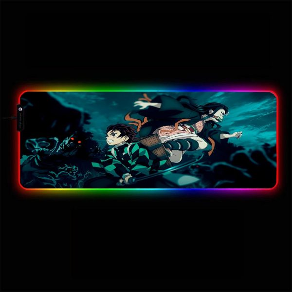 Demon Slayer - Fight - RGB Mouse Pad 350x250x3mm Official Anime Mousepad Merch