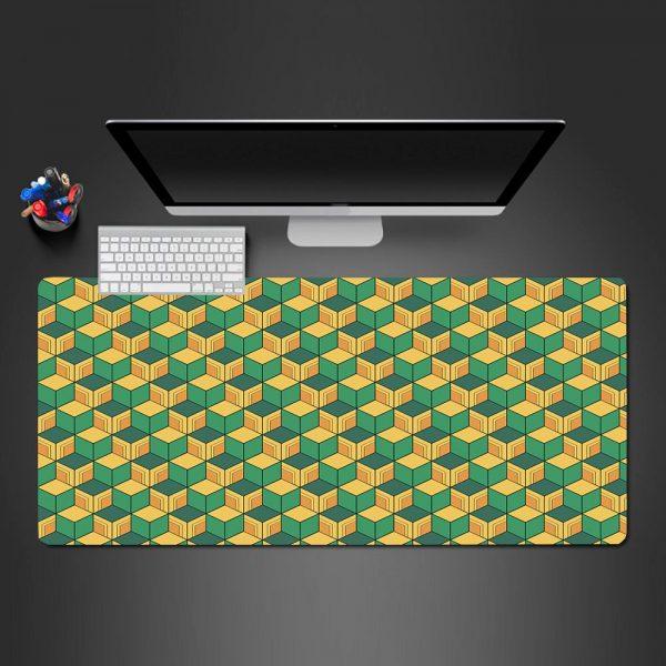 Giyu Haori Pattern Gamer Mouse Pad Large Computer Desk Mat XXL PC Gaming Mousepad 350x250x2mm Official Anime Mousepad Merch