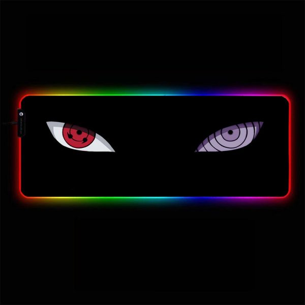 Naruto - Eyes - RGB Mouse Pad 350x250x3mm Official Anime Mousepad Merch