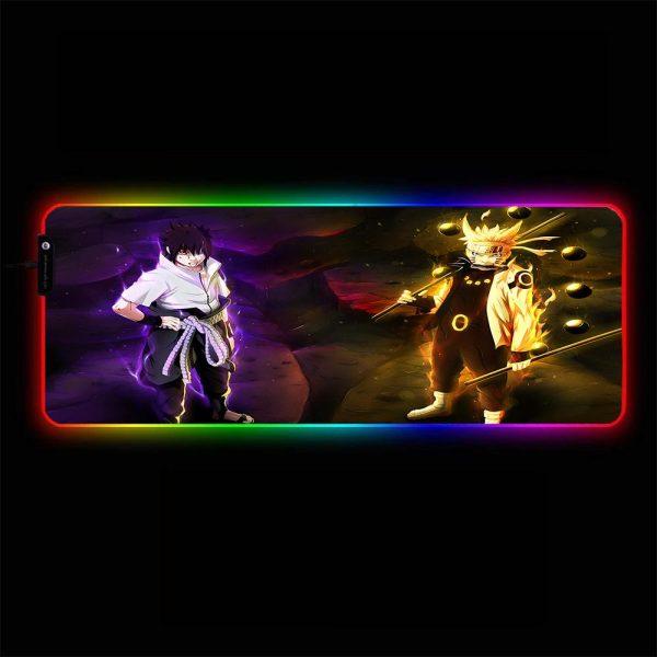 Naruto - Uzumaki - RGB Mouse Pad 350x250x3mm Official Anime Mousepad Merch