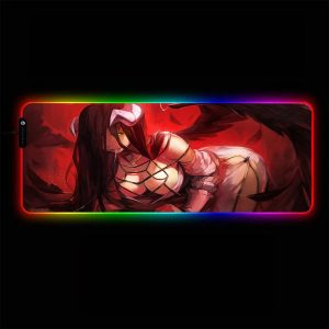 Overlord - Albedo Red - RGB Mouse Pad 350x250x3mm Official Anime Mousepad Merch
