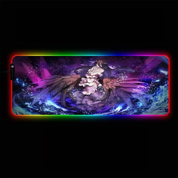 Overlord - Albedo Wings - RGB Mouse Pad 350x250x3mm Official Anime Mousepad Merch