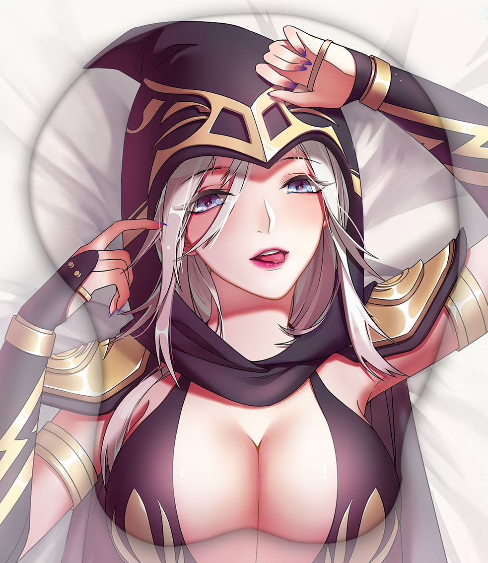 ashe the frost archer 3d oppai mouse pad 5748 - Anime Mousepads