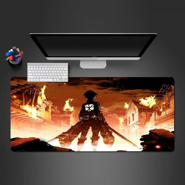 Attack on Titan - Fire - Mouse Pad 350x250x2mm Official Anime Mousepad Merch