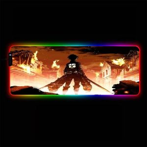Attack on Titan - Fire - RGB Mouse Pad 350x250x3mm Official Anime Mousepad Merch