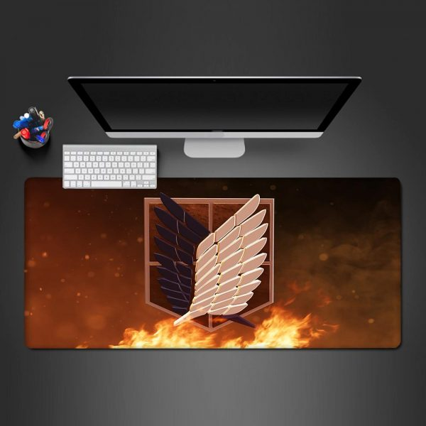 Attack on Titan - Logo - Mouse Pad 350x250x2mm Official Anime Mousepad Merch