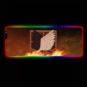 Attack on Titan - Logo - RGB Mouse Pad 350x250x3mm Official Anime Mousepad Merch
