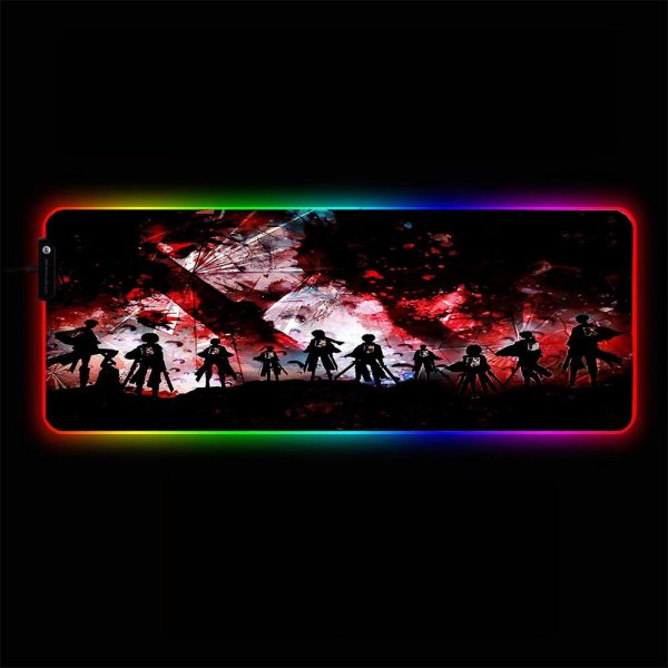 Attack on Titan - Shatter - RGB Mouse Pad 350x250x3mm Official Anime Mousepad Merch