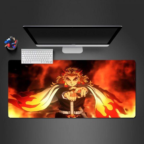 Demon Slayer: Kimetsu no Yaiba - Rengoku Fire - Mouse Pad 350x250x2mm Official Anime Mousepad Merch