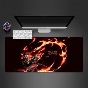 Demon Slayer: Kimetsu no Yaiba - Tanjiro Kamado Fire - Mouse Pad 350x250x2mm Official Anime Mousepad Merch