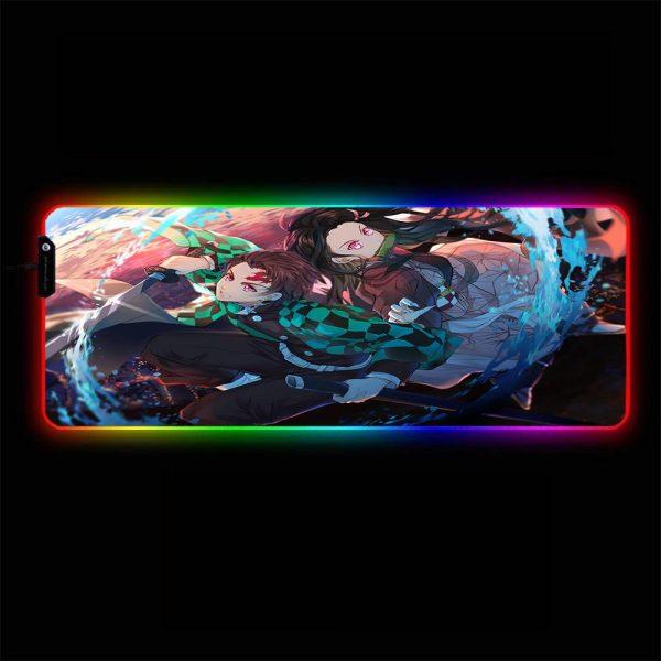 Demon Slayer - Tanjirou & Nezuko - RGB Mouse Pad 350x250x3mm Official Anime Mousepad Merch