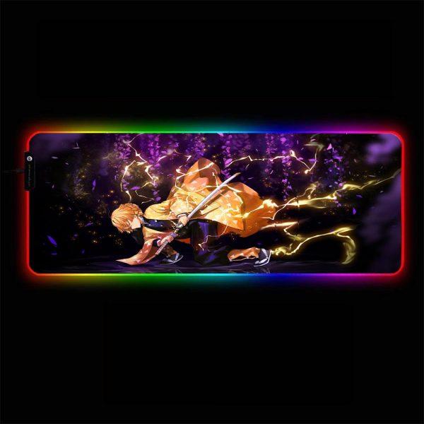 Demon Slayer - Zenitsu Agatsuma - RGB Mouse Pad 350x250x3mm Official Anime Mousepad Merch