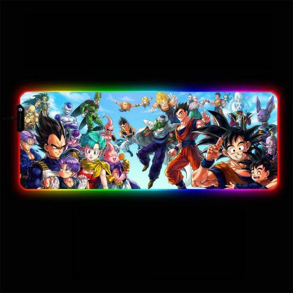 Dragon Ball - Friends & Foes - RGB Mouse Pad 350x250x3mm Official Anime Mousepad Merch