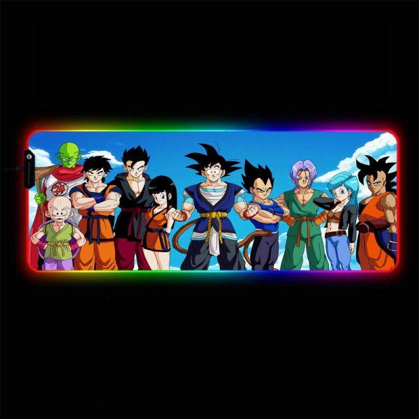 Dragon Ball - Friends - RGB Mouse Pad 350x250x3mm Official Anime Mousepad Merch
