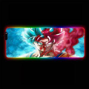 Dragon Ball - God Goku - RGB Mouse Pad 350x250x3mm Official Anime Mousepad Merch