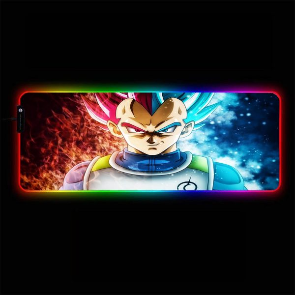 Dragon Ball - God Vegeta - RGB Mouse Pad 350x250x3mm Official Anime Mousepad Merch
