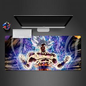 Dragon Ball Ultra Instinct Goku Gamer Mouse Pad Large Computer Desk Mat XXL PC Gaming Mousepad 350x250x2mm Official Anime Mousepad Merch