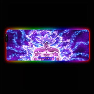 Dragon Ball - Goku Ultra Instinct Aura - RGB Mouse Pad 350x250x3mm Official Anime Mousepad Merch
