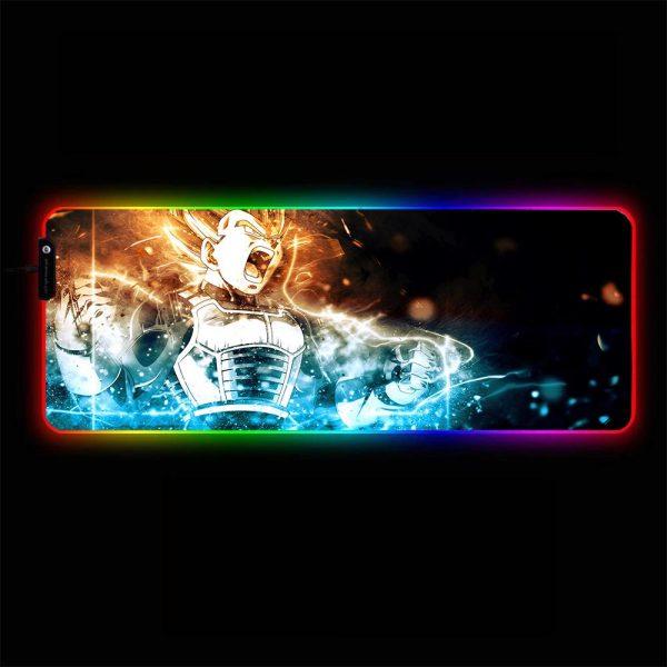 Dragon Ball - Vegeta Transforms - RGB Mouse Pad 350x250x3mm Official Anime Mousepad Merch